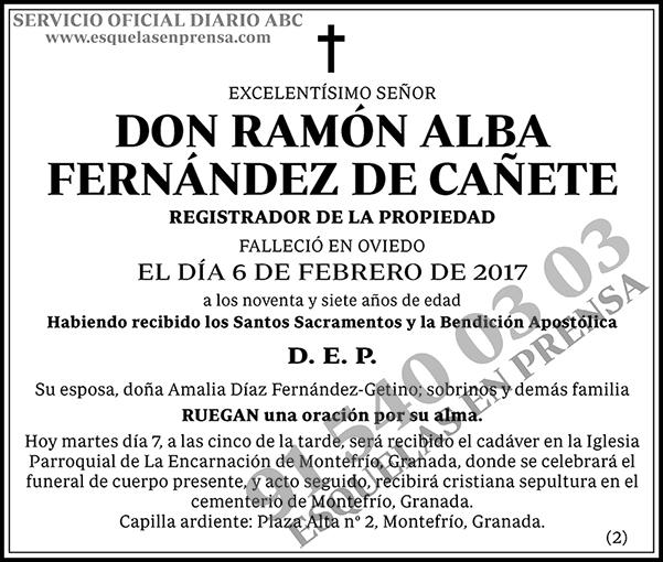 Ramón Alba Fernández de Cañete